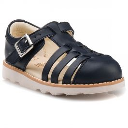 bf716d3d14f5c Crown Stem T Clarks σε Navy Leather | NAK Shoes