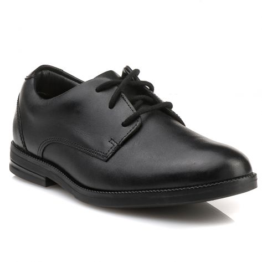 RUFUS EDGE Clarks - Black Leather   NAK