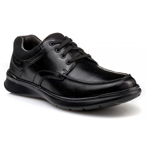 8a990fd7f0a COTRELL EDGE Clarks - Black Smooth Leather