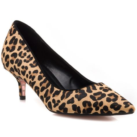 e29cc0aa82 ALESANDRA Dune London - Leopard - Pony Kitten Heel Court | NAK Shoes