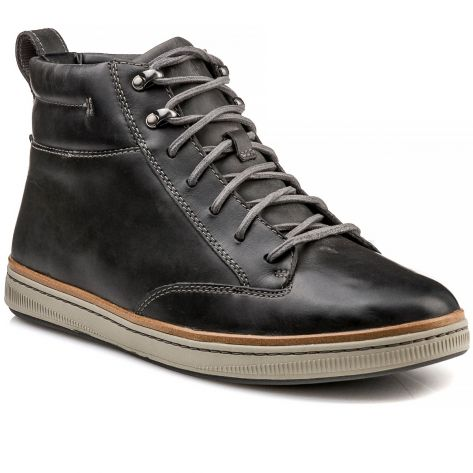 venta online 50% rebajado bienes de conveniencia NORSEN MID Clarks - Dark Grey Leather | NAK Shoes