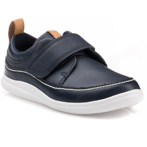 a75854fc44389 Cloud Ember T Clarks - Navy Leather | NAK Shoes